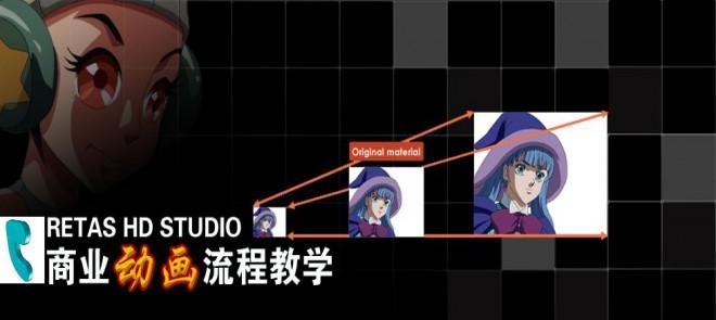 RETAS HD STUDIO-商业动画流程教学