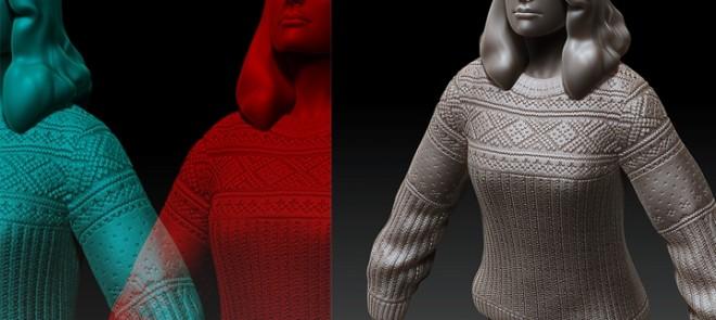 次世代毛衣高模制作方法