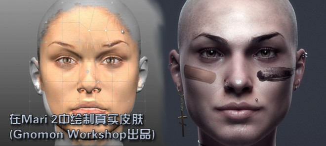 在Mari 2.0中绘制真实皮肤(Gnomon Workshop)