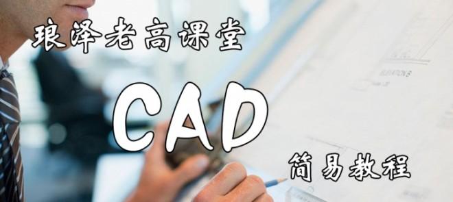 琅泽老高课堂CAD简易教程
