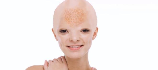 面部科幻化妆效果