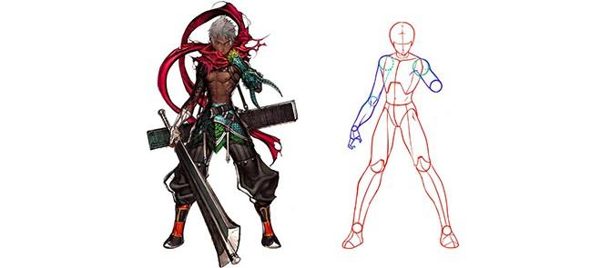 PS绘画人体与体块系列
