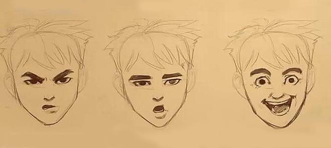 手绘 表情绘画教程
