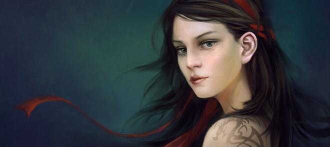 PS游戏原画教程之女性头像绘制