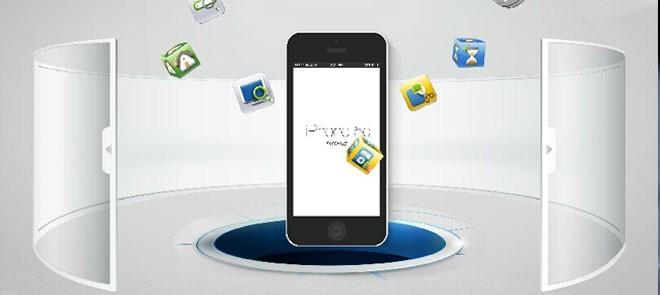 Flash案例精讲-明基手机酷炫背景动画