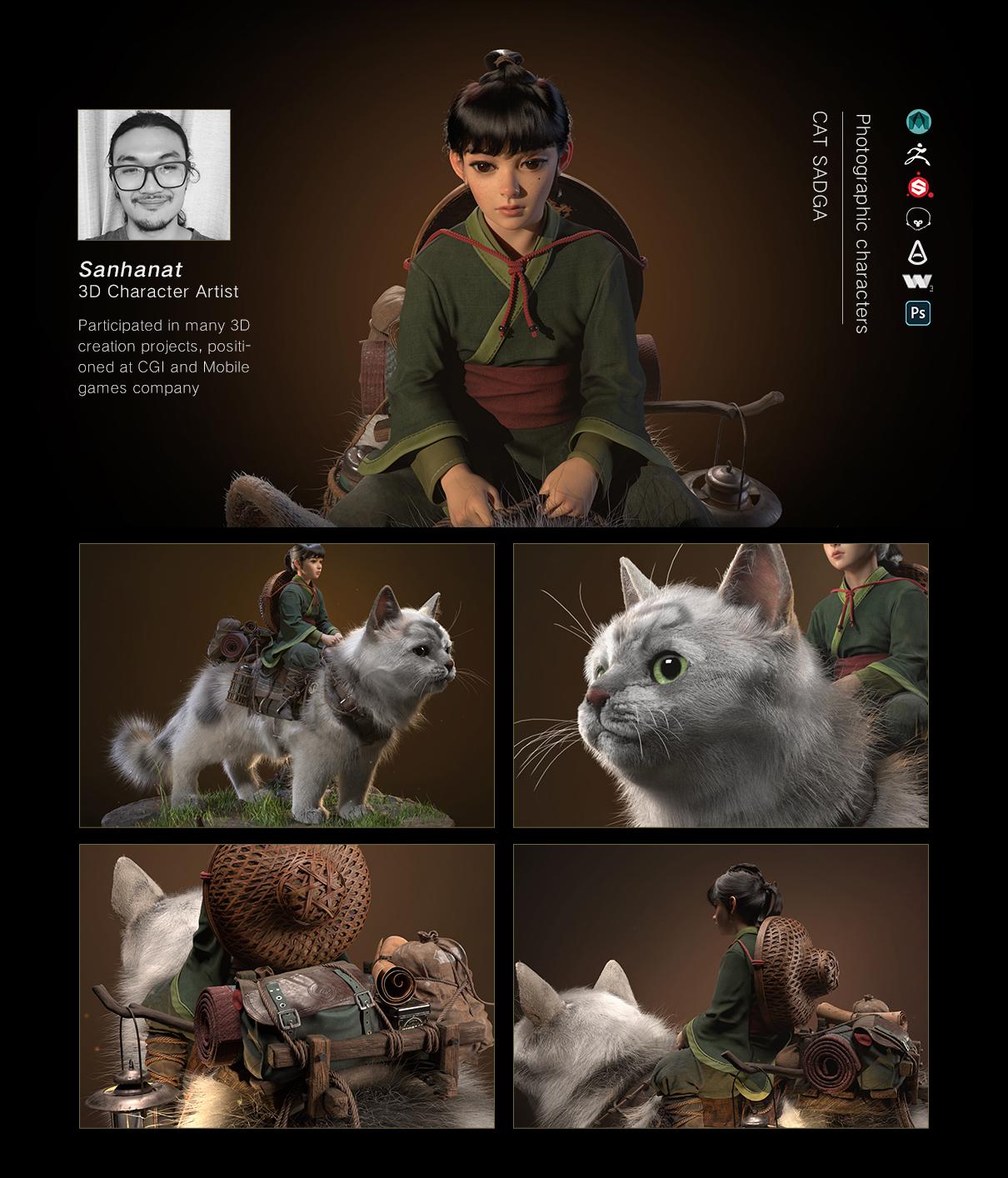 Cat Saga: create advanced 3D concept art model Cat Saga Cat Saga,create advanced 3D concept art model