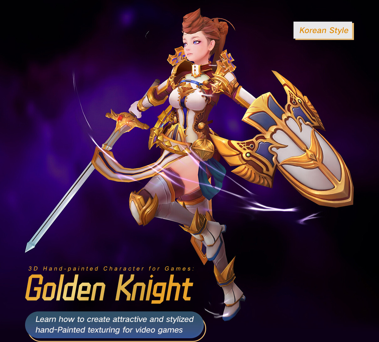 Golden Knight: 3D Hand-Painted Character For Games Golden Knight Golden Knight,3D Hand-Painted Character For Games