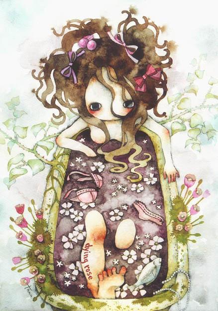 【作品】诡异可爱的娃娃水彩插画