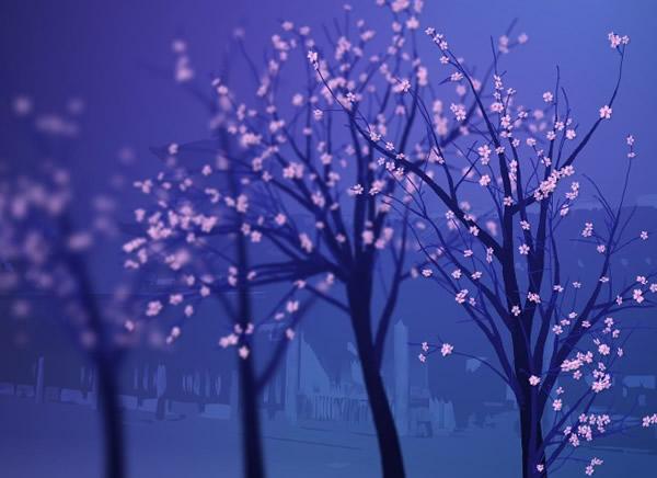樱花树生长flash图片