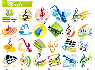 音乐主题图形矢量图素材