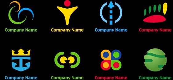 多款抽象企业logo设计矢量图