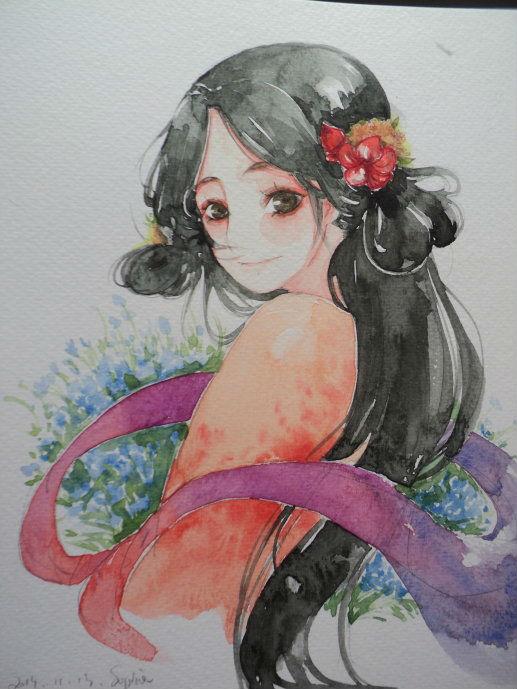 手绘水彩插画 - 翼狐网(原翼虎网)