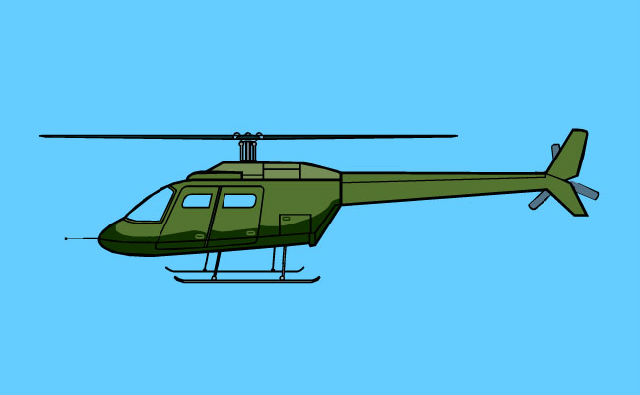 flash动画素材下载:直升飞机起飞flash矢量动画