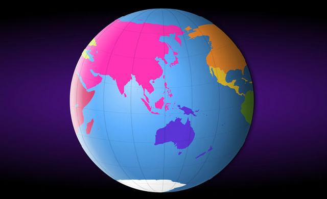 彩色地球转动flash_flash矢量素材源文件