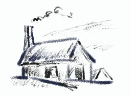 初学风景笔画步骤
