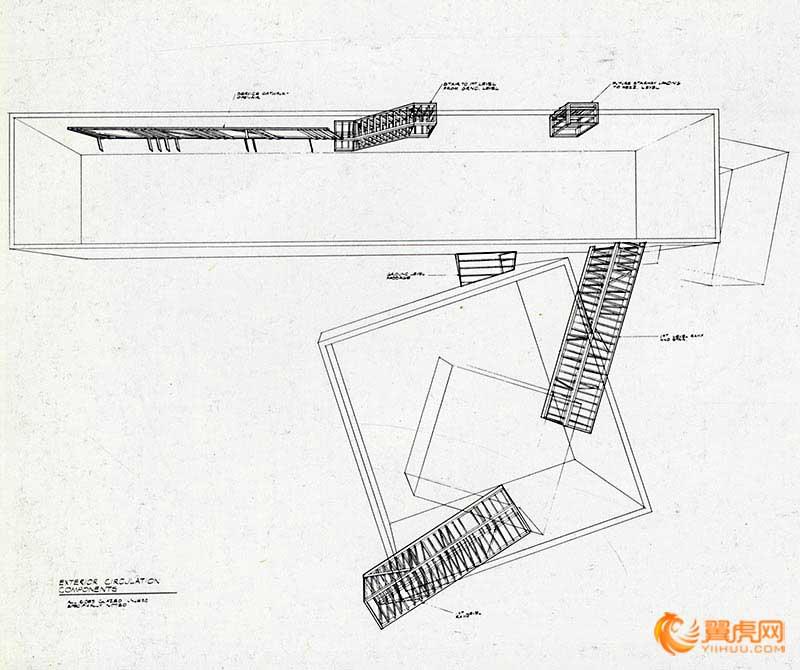 建筑设计平面图空间的对比和穿插