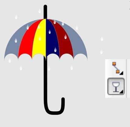 怎样用coreldraw绘制五彩的雨伞