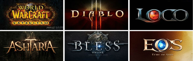 欧美古典神魔题材的游戏logo