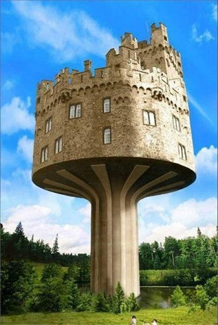 绝对是空前绝后的建筑设计图8:蘑菇古堡