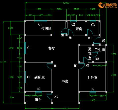 室内设计cad平面图的问题-求室内设计cad平面图框架