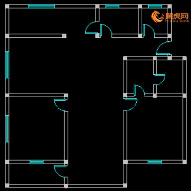 cad室内设计平面图教程5