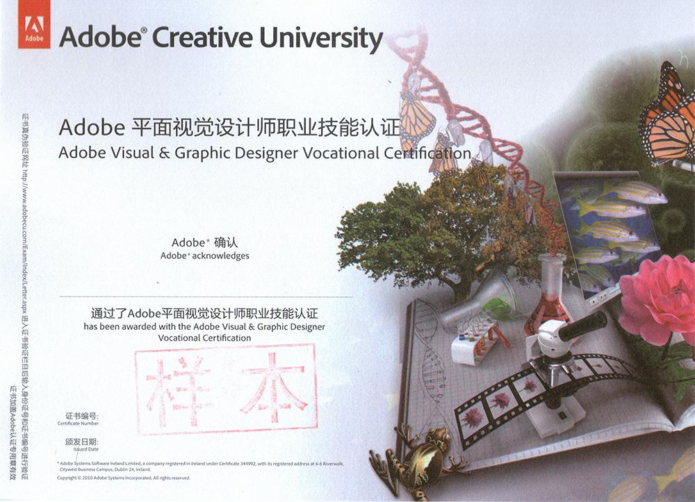 平面视觉设计师证书》