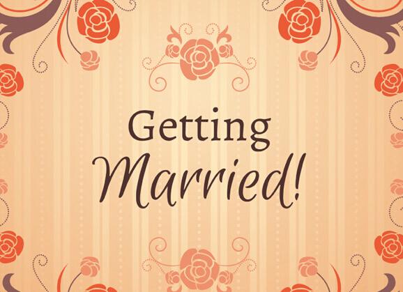 复古花卉婚礼海报ai格式素材
