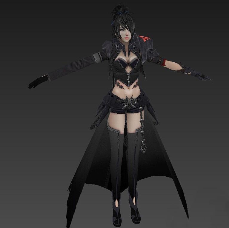 资源下载 模型素材下载 枪神纪女人物模型  人物模型 2015-07-11上传