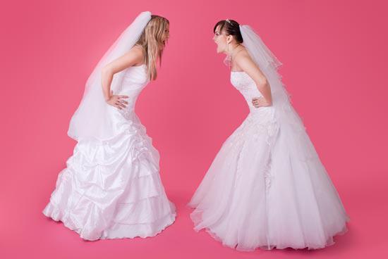 """ps制作两个大头新娘吵架的图像素材图1""图片"