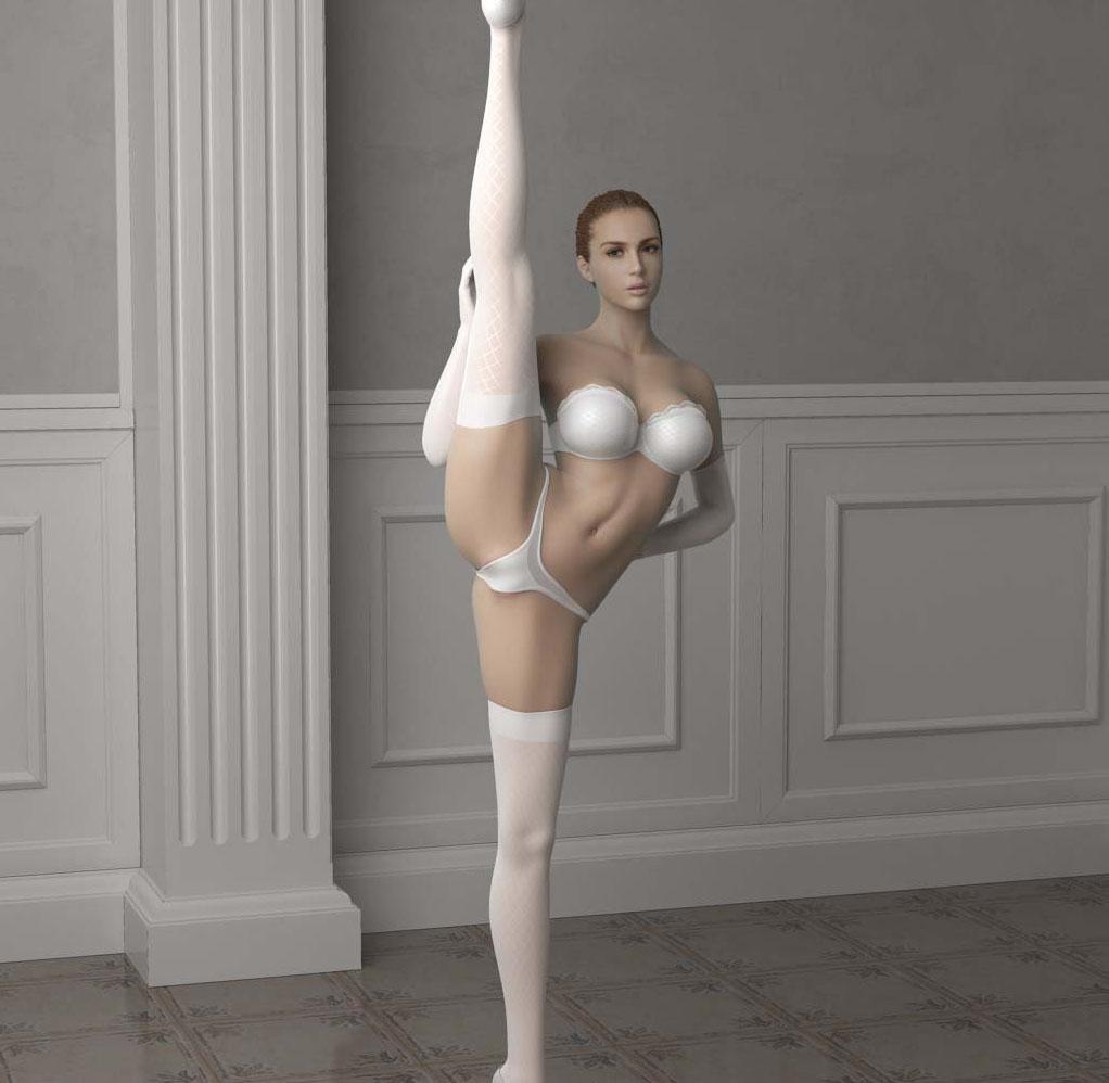 【艺用人体】克丽斯汀的秘密 柔术俱乐部的表演 真正全套