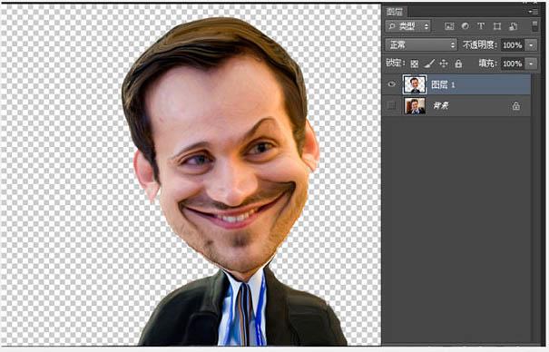 photoshopps利用液化滤镜将人物头像做成漫画效果