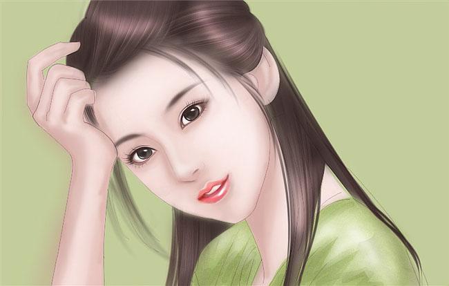 ps鼠绘小说封面的清纯古装美女
