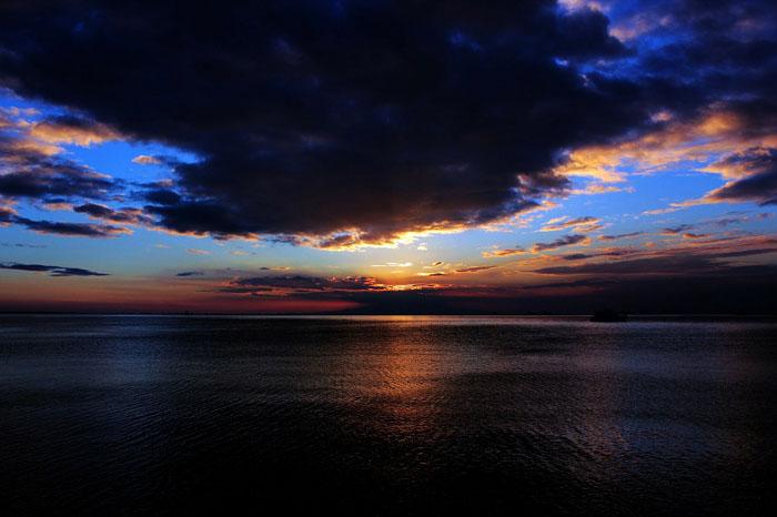 夕阳画法步骤图