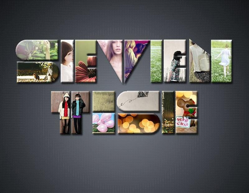photoshopps制作漂亮的图片拼接文字