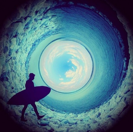 ps制作奇幻的360度圆形场景