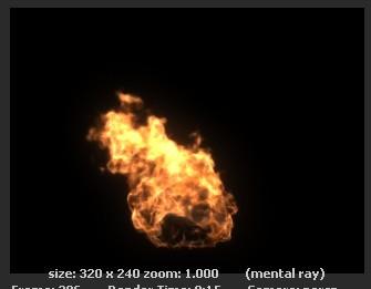 Maya fluid 火焰