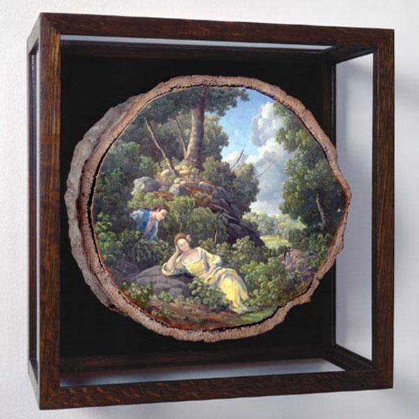 moritsugu的木桩艺术画
