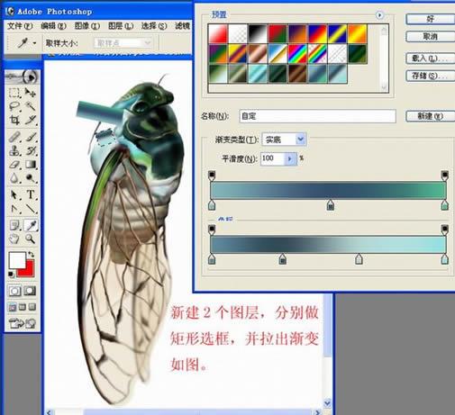 【ps手绘教程_photoshop使用ps手绘一只逼真的蝉