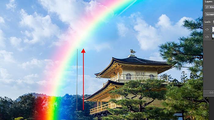 PS给图片快速加上逼真的彩虹