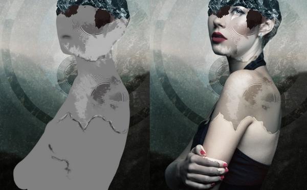 PS打造抽象艺术美人图