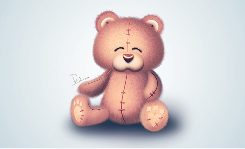 photoshopps鼠绘可爱的小熊玩具