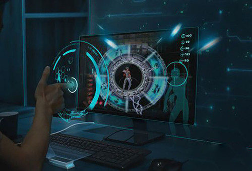 再想点现实点的,比如科幻电影中精彩出现的全息投影触摸屏幕什么