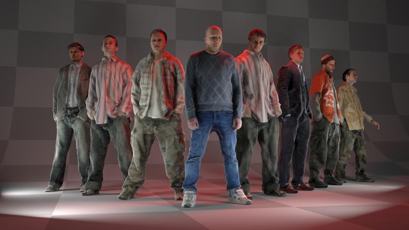 8个写实男性3D模型