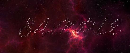 对文字进行选取,把选区复制到星空图片中