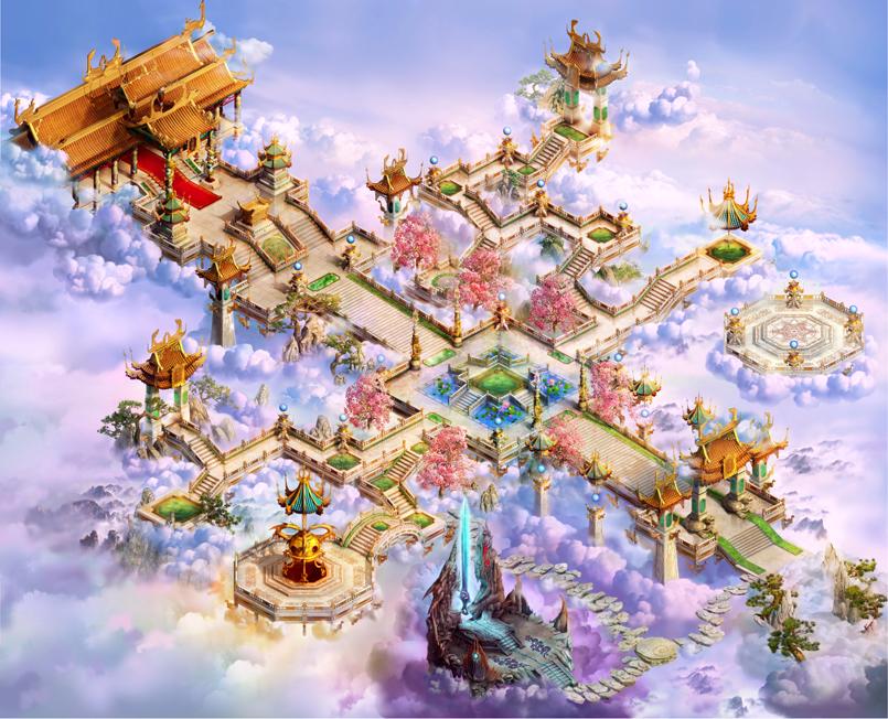 《梦幻诛仙》场景素材(地图+png元件+PSD素材)