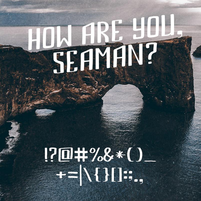 创意英文字体Bemount