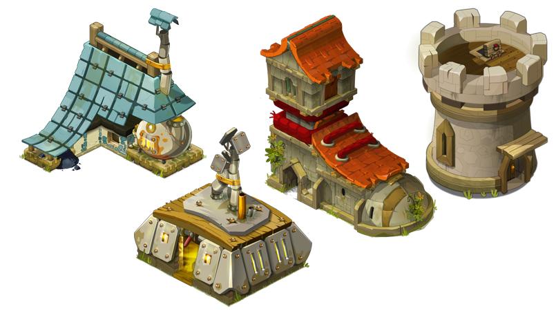 Q版游戏建筑元件素材(PNG)