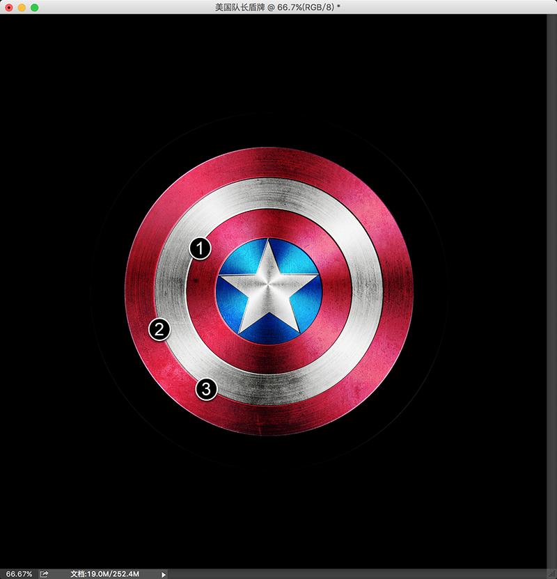 摘要:在本教程中,我将向您介绍如何使用Photoshop打造美国队长盾牌。整个过程是很简单的,不会超过45分钟。 PSD文件下载请点我 密码: xegx 最终效果图:  第1步 打开Photoshop,创建一个新的文档。我使用的2600x2600像素。使用油漆桶工具(G)填充黑色。