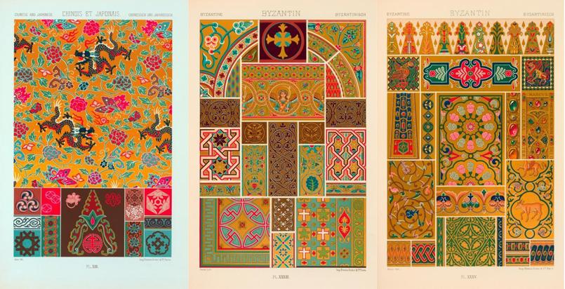 各式古典花纹图样贴图素材