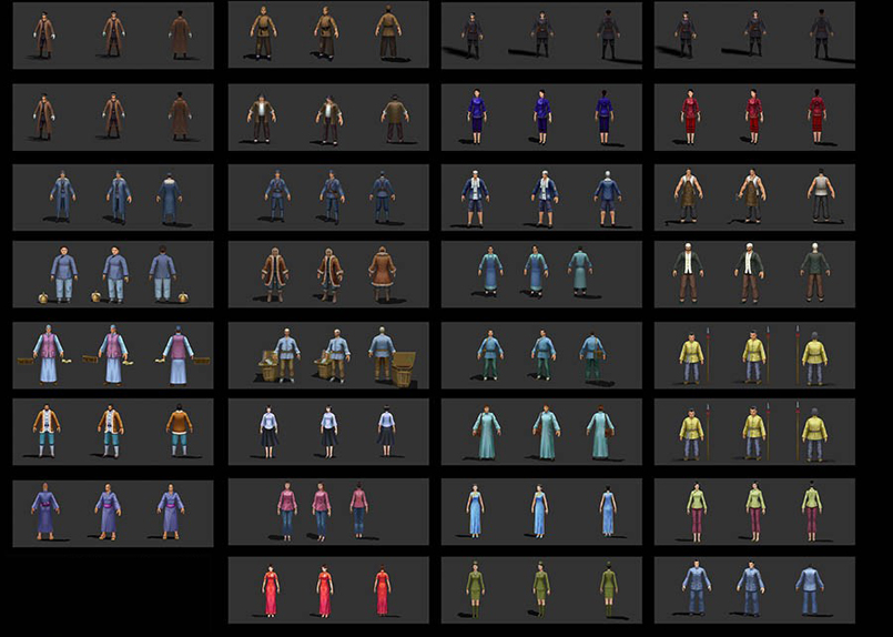 游戏《抗战online》全套角色3D模型